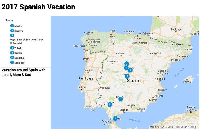 2017 Spanish Vacation